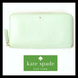 Kate Spade New York Mint Green Leather Wallet
